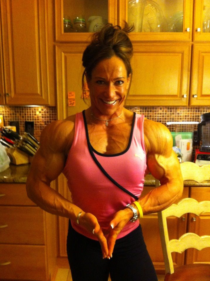 Muscular Woman Flexing